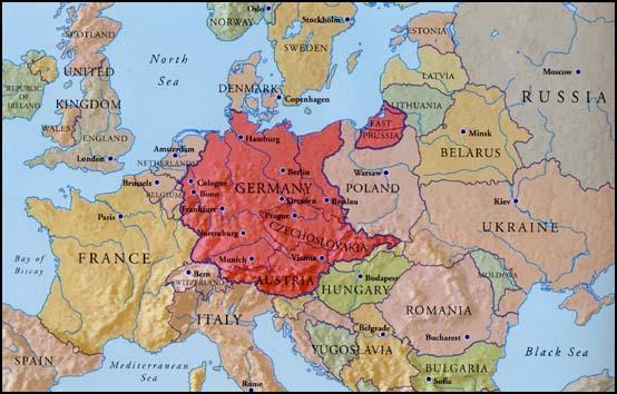 Ostmark mapa