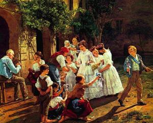 Am Fronleichnamsmorgen, 1857