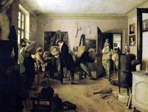 Das Scholarenzimmer eines Malers (1828)