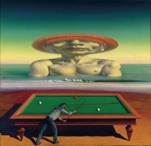 Alter Billiardspieler, Rudolf Hausner