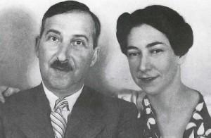 Zweig y Lotte Atmann, su esposa