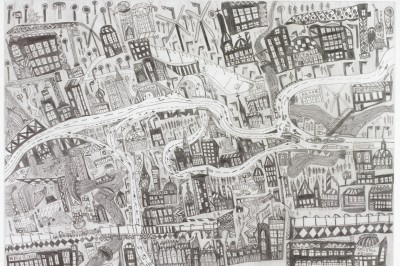 leonhard fink map of the city of linz
